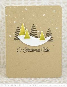 O Christmas Tree Card by Nichole Heady for Papertrey Ink (September 2015):