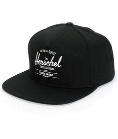 Herschel Supply Co. Whaler Snapback Hat. Black Snapback HatsBlue ... 15dd5050d882