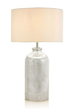 Buy Mercury Glass Table Lamp from the Next UK online shop Bedside Table Lamps, Master Bedroom Design, Mercury Glass, Mason Jar Lamp, Table Desk, Glass Table, Uk Online, Lighting, Stuff To Buy