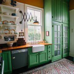 5 Green Kitchens We're Obsessing Over — I Dream of Green