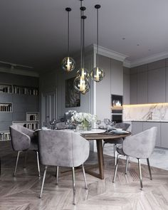 15 Astonishing Oval Dining Tables for Your Modern Dining Roo.- 15 Astonishing Oval Dining Tables for Your Modern Dining Room Look to some supreme and elegant oval dining tables. Dining Room Design, Oval Table Dining, Dining Room Interiors, Room Interior, Modern Dining Room Tables, Luxury Dining, Dining Room Contemporary, Elegant Dining Room, Contemporary Dining Room