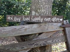 """Perfect for the wedding day and in your home afterward! Custom """"Happily Ever After"""" Wedding Signs by ChevvyandRons on Etsy, $40.00"""