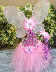 Pink Fairy Costume Pink Fairy Pink Tutu Pink by partiesandfun