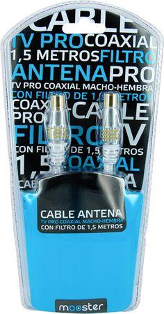 Cable Mooster  Pro Tv coaxial macho hembra con filtro de 1.5 m. 417-782 #geek #tecnologia #oferta #regalo #novedades Visita http://www.blogtecnologia.es/producto/cable-mooster-pro-tv-coaxial-macho-hembra-con-filtro-de-1-5-m-417-782