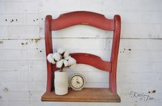 DIY Repurposed Chair Shelf via KnickofTime.net