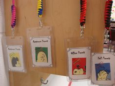Classroom decor: Student passes Peanuts gang style