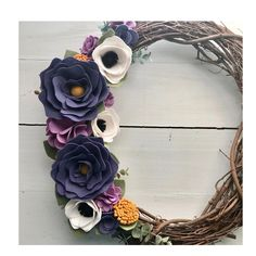 So, here's a funny thing. I used to LOVE purple. Then I hated it. I'm working on getting back into it-and making this wreath helped me! I just listed it in my shop, if you love purple, this one is for you! #feltflowerwreath #feltflower #feltflowers #grapevinewreath #wreath #doordecor #porchdecor #putawreathonit #springdecor #springwreath #handmade #handmadewithlove #shopsmall #etsyseller #etsyshop #buyhandmade #craftymom #creativity #createexplore
