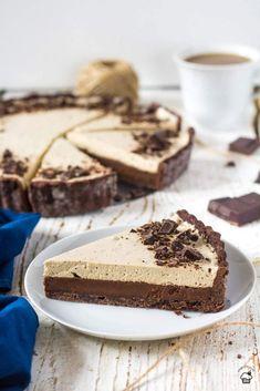 Čokoládovo kávový tart Tart Recipes, Sweet Recipes, Dessert Recipes, Cooking Recipes, Sweet Bar, Ice Cream Recipes, Aesthetic Food, Cheesecake, Diet