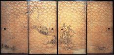 長谷川等伯 - 《山水図襖》 1589年          京都 · 圓徳院藏
