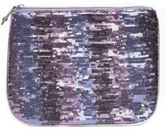 Trend Finder: Sequins--@Stephanie Johnson Nashville purple large flat pouch