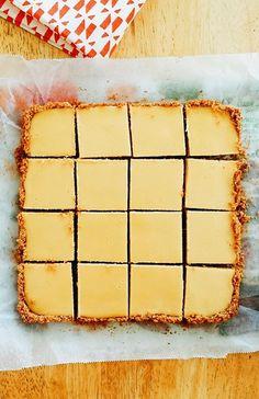 Easy Creamy Lemon Squares with Graham Cracker Crust