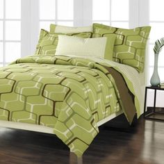 Lime Green Bedding - Joyful, intense and refreshing Lime Green Bedding, Green Bed Sheets, Teen Bedroom, Bedrooms, Bed & Bath, Green And Brown, Comforter Sets, House, Furniture