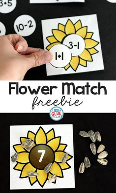 Sunflower Addition and Subtraction Printable - Romy Elementary Math, Kindergarten Math, Teaching Math, Maths, Teaching Ideas, Kindergarten Addition, Teaching Resources, Math Literacy, Math Addition