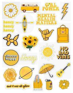 Preppy Stickers, Cute Laptop Stickers, Kawaii Stickers, Cool Stickers, Printable Stickers, Journal Stickers, Scrapbook Stickers, Planner Stickers, Sticker Shop