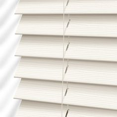 Cottage Cream Faux Wood Blind - 50mm Slat from Blinds 2go