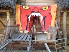 Tudor Monastery Farm hell's mouth set for mystery play http://sarahlaker.weebly.com/bbcs-tudor-monastery-farm.html
