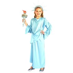 Little Miss Liberty Child Costume - Includes: long dress and tiara.  Torch is not included. 4-6.