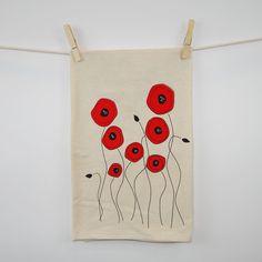 Poppies Flour Sack Tea Towel by eleventy-five