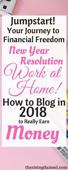 Learn how to jumpstart your financial freedom with how to blog. You can stay at home, you can earn. You don't have to be a slave to the office. With this quick guide you will be on your way to success and money. The Rising Damsel #blog #earn #makemoney #2018resolution #earnmoney #blogger