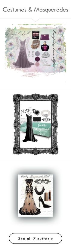 """""""Costumes & Masquerades"""" by mistylake ❤ liked on Polyvore featuring MARBELLA, Bling Jewelry, Casadei, Smith & Cult, Christian Dior, Furla, Kenneth Jay Lane, Gucci, modern and Masquerade"""