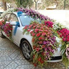 stunning wedding car decor - Google Search