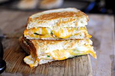 Jalapeno Popper Grilled Cheese This may be my new main food group.  Didn't use the green onions but may try that.... and used pickled jalepeno because i love them lots.