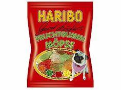 pug gummies exist! Haribo Fruchtgummi Moepse (Pugs) 200g: Amazon.com: Grocery & Gourmet Food
