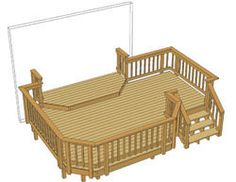 20 39 X 12 39 Deck W 5 39 X 8 39 Step Up Area At Menards Deck