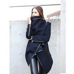 nuevo abrigo de manga larga de gran patio de lino