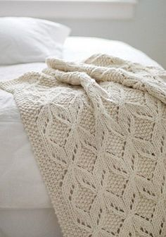 Knit Diamonds Afghan  with Chart    *