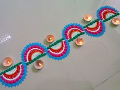 very innovative and easy border rangoli design. - YouTube