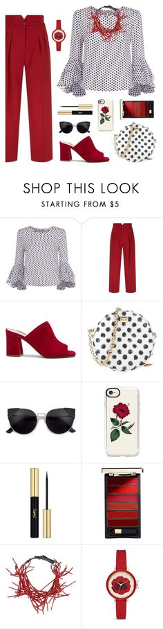 """""""Untitled #2172"""" by ebramos ❤ liked on Polyvore featuring Milly, RED Valentino, Maryam Nassir Zadeh, Dolce&Gabbana, Casetify, Yves Saint Laurent, L'Oréal Paris, Brunello Cucinelli and Kate Spade"""