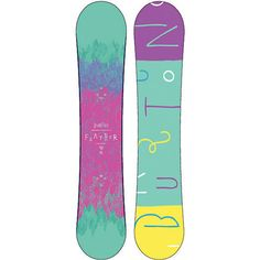 Introducing the 2013 Burton Feather Wide Girls Snowboard.  The Burton Feather is determined to get better with women's specific True Flex Fly core, twin flex, directional shape, and NEW V-Rocker camber, this deck will have all-terrain freedom.  Also including Burton's Cruise Control catch free edge technology and exquisite custom Sophie Kern art you can ride with style and grace. Float like a feather, sting like a bee on the 2013 Burton Feather snowboard.