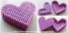 DIY Heart box hama perler beads by Les Mercredis de Julie