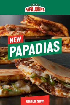 Our new Papadias are the cheesy crunchy meaty crispy fold-y handheld meals of your dreams Visit to order a Papadia today Authentic Mexican Recipes, Italian Recipes, Mexican Food Recipes, Crockpot Recipes, Chicken Recipes, Cooking Recipes, Healthy Recipes, Cooking Box, Mama Cooking
