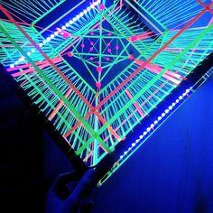 Ready to be shipped, worldwide. Art Cube, Led Fluorescent, Sacred Geometry Art, Led Tape, Tape Art, Art Object, String Art, Light Decorations, Event Decor