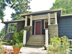 CertaPro Painters of North Seattle #exteriorcolors #exteriorpainters #exteriorpainting #purpledoor