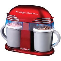 Retro Double Homemade Ice Cream Maker Kitchen Gadget With 2 Freezable Mugs Cool Kitchen Gadgets, Home Gadgets, Cool Kitchens, Kitchen Tools, Kitchen Ideas, Homemade Ice Cream Maker, Kitchen Aid Mixer, Kitchen Appliances, Electronic Gadgets For Men