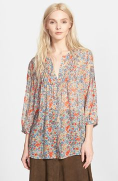 Joie 'Lacee' Floral Print Silk Top