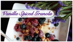 Vanilla Spiced Granola is THE perfect healthy treat year-round! Click here for the recipe!