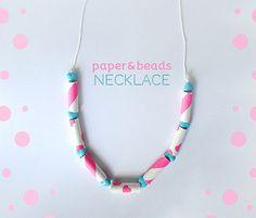 DIY Paper & Beads Necklace via Kollabora