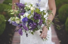 Organic Purple Wildflower Wedding   wildflower purple wedding bouquet   Images: Magnolia Street Photography
