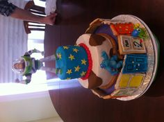Max's 2nd bday cake! Inspiration fav movies Toy Story & Monters Inc.!