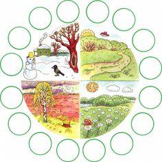 Thema seizoenen met kleuters no 1, free printable