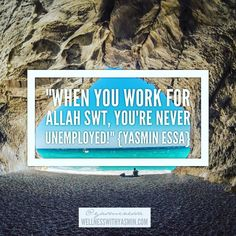 This right here is a reminder to everyone. Whether you work for someone else are self-employed are a mother are a student etc every single provision comes from the Creator of the Heavens and the Earth. For those who are not Muslim before you turn away know that Allah SWT is not the name of a separate Muslim God. It is the Arabic word for God and is used by people of various faiths. The air you breathe... Did you make it? The trees ourside... Did you make those? Your paycheck from your…