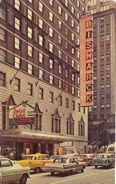 1968. Hotel Bismarck. 171 W. Randolph St. Now the Hotel Allegro.