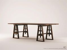 Inspired by a carpenter's work bench in combination with the abundant long table…
