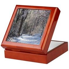 Icy Snow Trail Keepsake Box