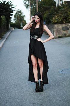Asymmetrical dresses.