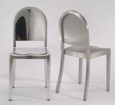La francesa Andrée Putman, encargada del rediseño del hotel Morgans en Nueva York, es la más reciente colaboradora de Emeco, la compañía de las famosas sillas de aluminio de la US Navy de 1940.